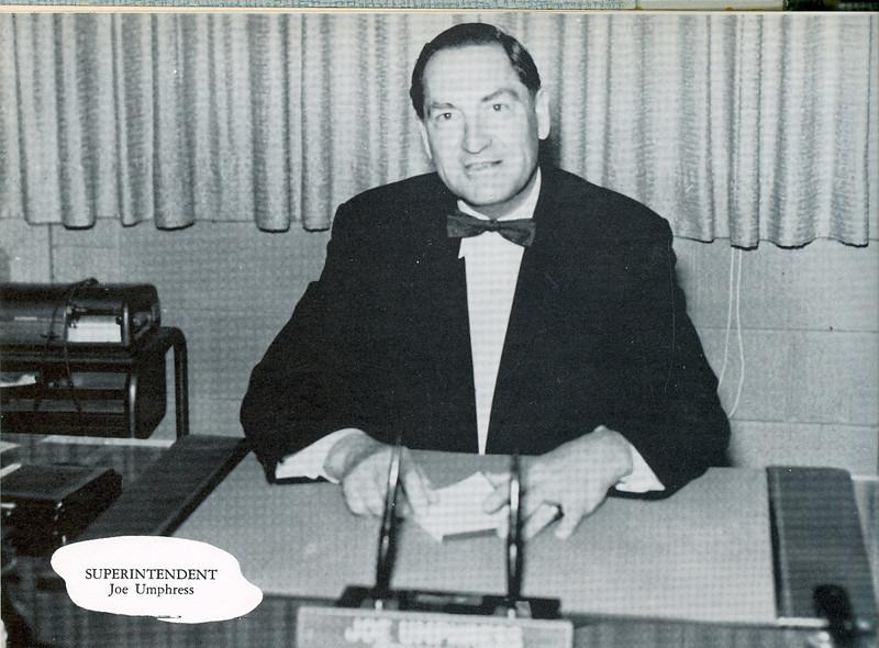 Superintendent:Joe Umphress1959