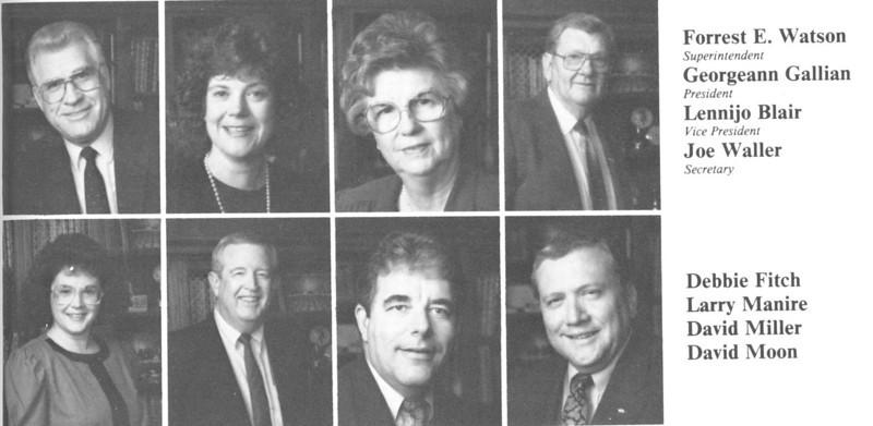 School Board: 1989
