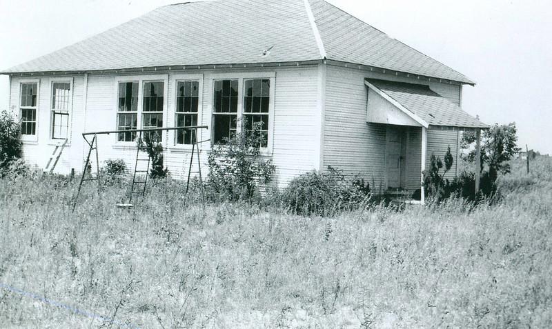 """Mosier Valley """"wood frame"""" school - used pre 1953"""