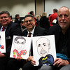 Members of the school board drawn as various superheroes.