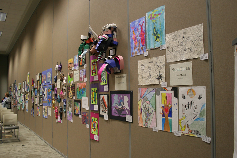 Paintings and drawings from various district elementary schools.