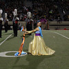 The Trinity band and color guard at halftime.