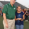 Superintendent with student of the year.
