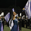 The L.D. Bell band and color guard at halftime.