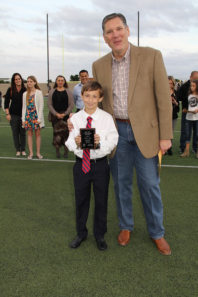 Student of the year and Superintendent.