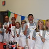 District executive leadership team serving ice cream floats.