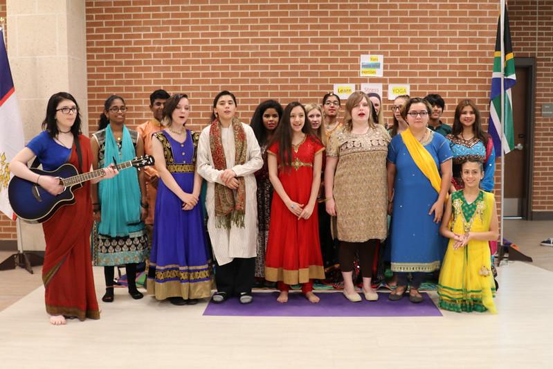 Students from the Hindi program sing a Hindu song.