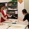 Students use chopsticks.