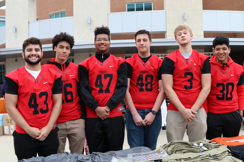 Six athletes from Trinity.