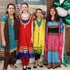 Students in Hindu attire.