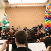 Students from the Central Junior High orchestra perform.