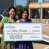 A student receives a college scholarship.