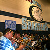 Central Junior High band students play their trombones.