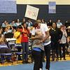 Myles Turner and the mayor hug.