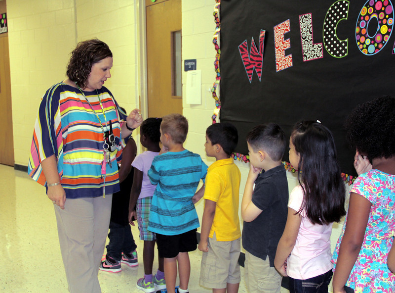 New principal does a headcount of the students.