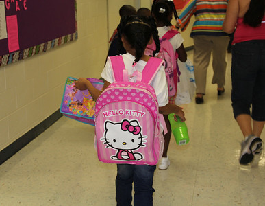 First Day of School for New Principal (August 2013)