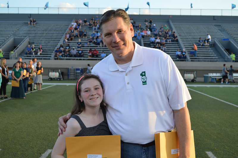 Superintendent and student of the year.