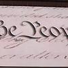 Replica of the Constitution.