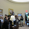 Guests photograph the Oval Office.