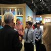 The tour guide talks about George W. Bush.