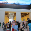 Students and other guests admire the museum.