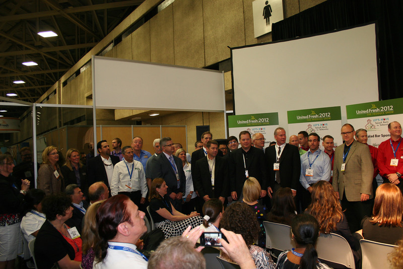 Sponsors of the conference gather for a picture.