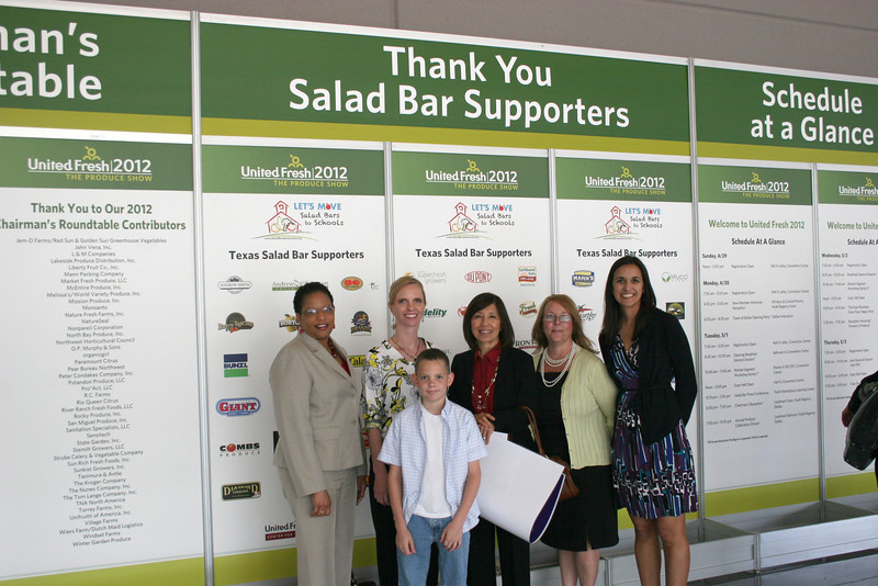 District representatives at an eating healthy press conference.