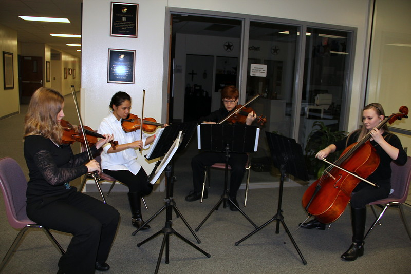 Orchestra students from L.D. Bell.