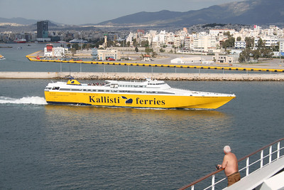 HSC CORSICA EXPRESS THREE departing from Piraeus to Tinos - Mykonos - Ikaria.