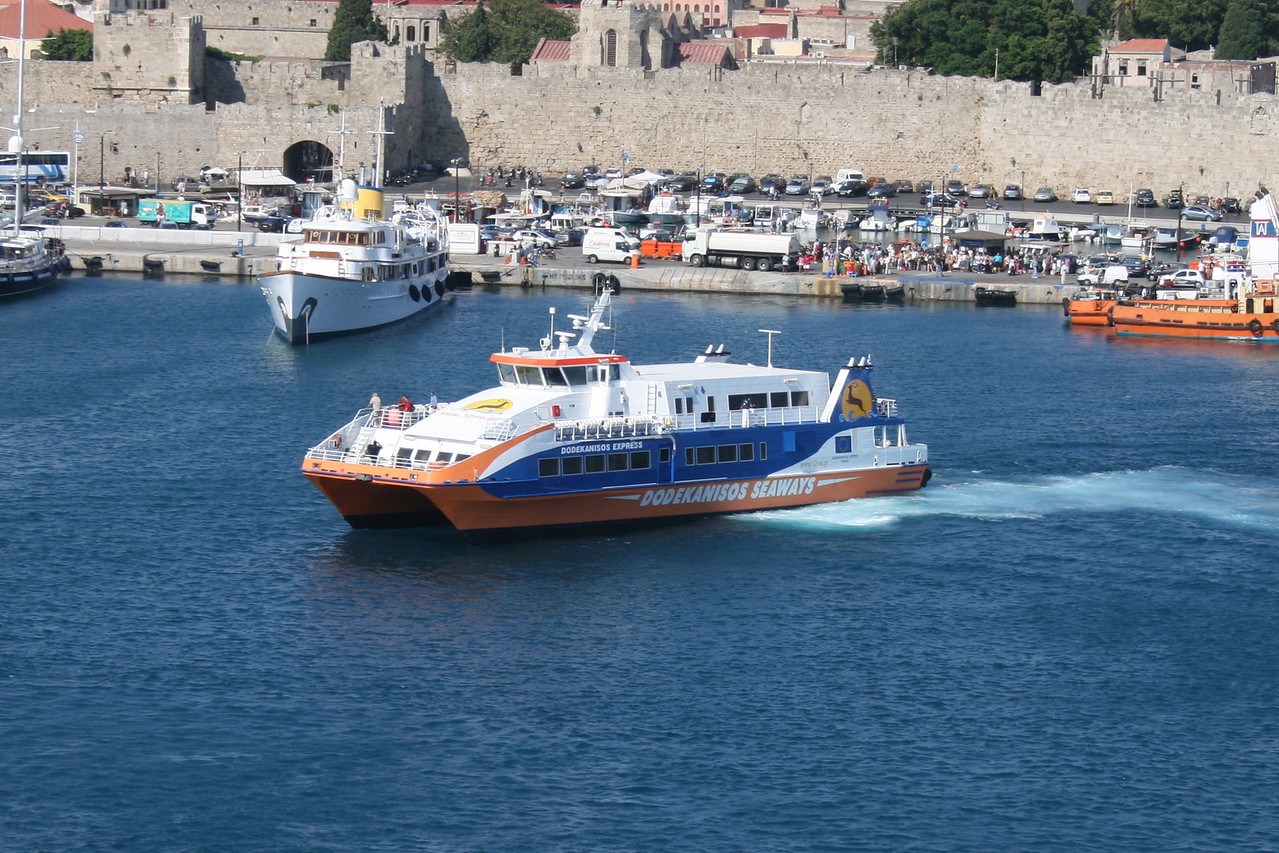 DODEKANISOS EXPRESS arriving to Rodos.
