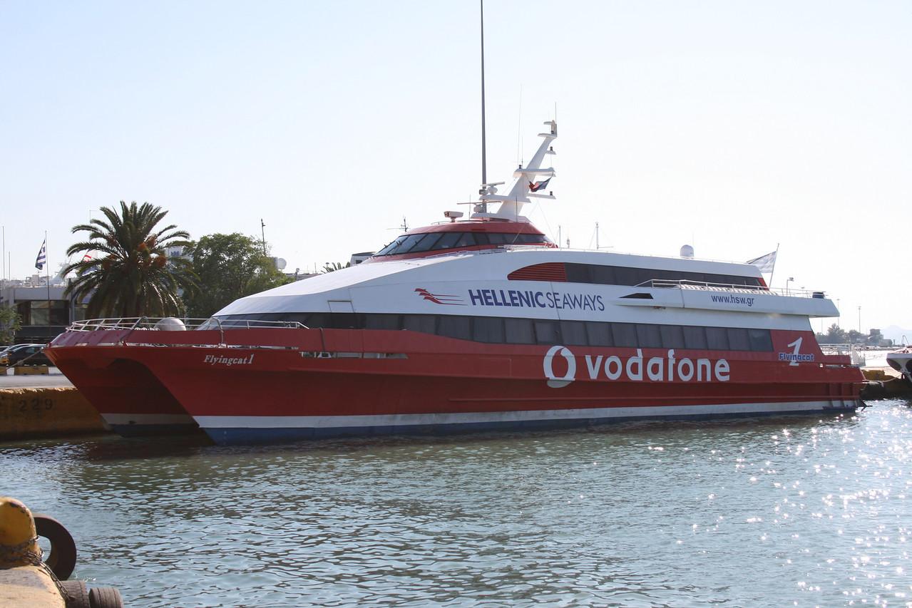 DSC FLYINGCAT 1 moored in Piraeus.
