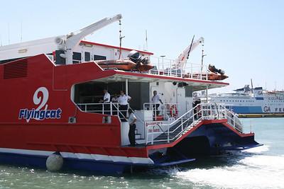 HSC FLYINGCAT 2 mooring in Piraeus.