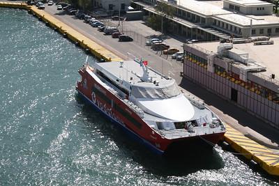 HSC FLYINGCAT 2 moored in Piraeus.
