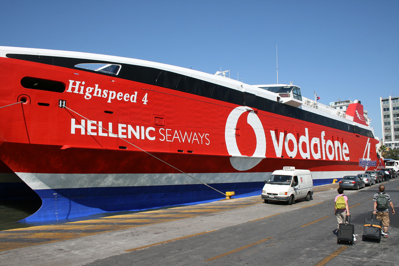 2009 - HSC HIGHSPEED 4 moored in Piraeus.
