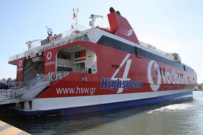 2009 - HSC HIGHSPEED 4 in Piraeus : giant logo.
