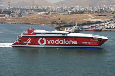 2011 - HSC HIGHSPEED 4 arriving to Piraeus.