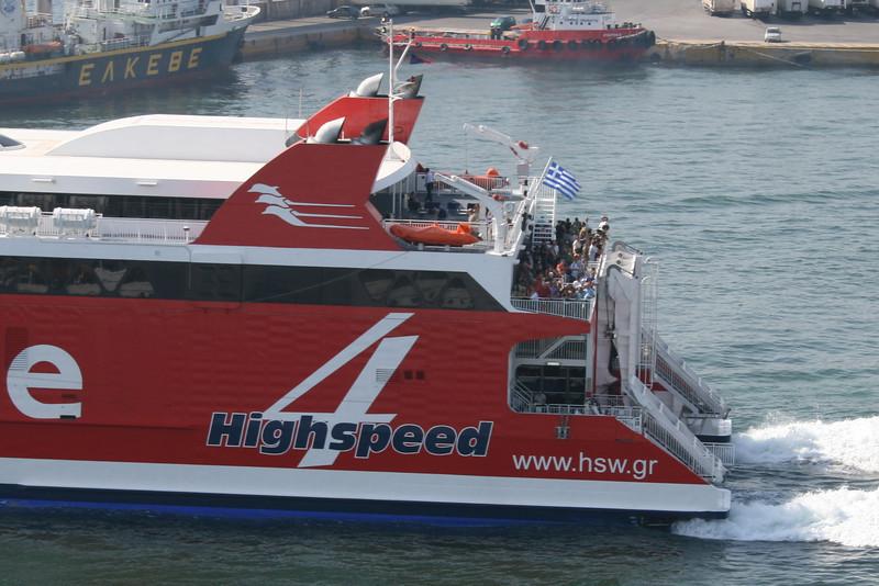 2011 - HSC HIGHSPEED 4 departing from Piraeus.
