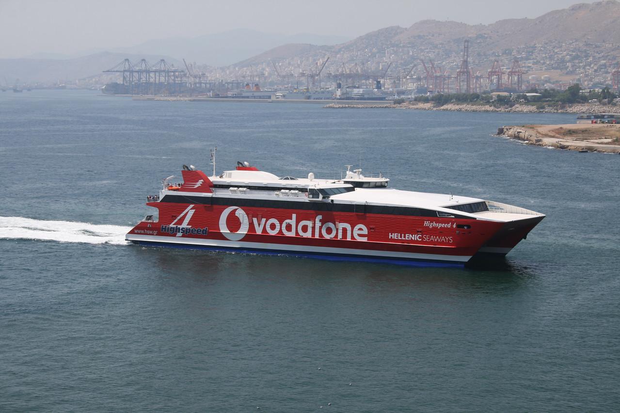 2011 - HSC HIGHSPEED 4 arriving to Piraeus.