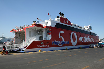 HSC HIGHSPEED 5 embarking in Piraeus.
