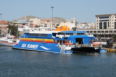 2008 - HSC SEA RUNNER moored in Piraeus.