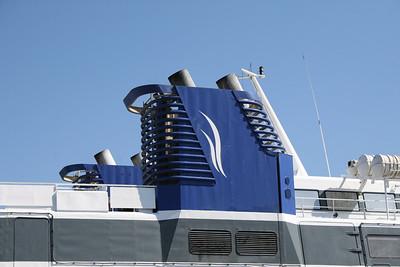 2009 - SPEEDRUNNER IV in Piraeus : the funnel.