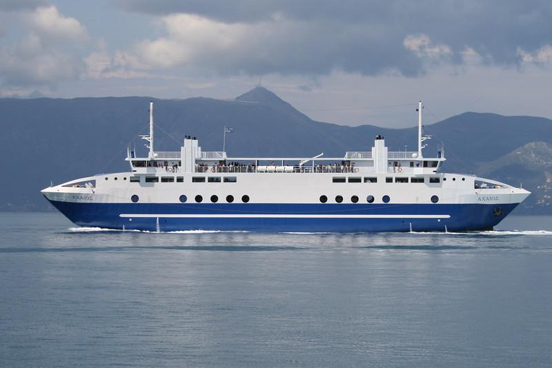 Two-way ferry ACHAIOS on Igoumenitsa - Corfu route.