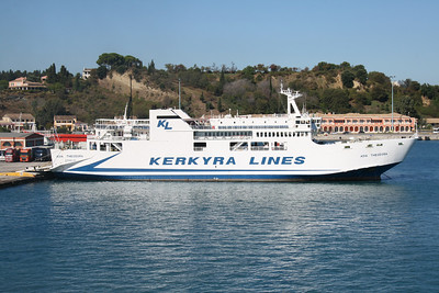 F/B AGIA THEODORA moored in Corfu.