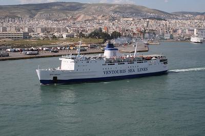 2008 - F/B AGIOS GEORGIOS leaving Piraeus to Kythnos - Serifos - Sifnos - Kimolos - Milos.