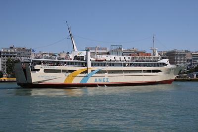 F/B AGIOS NEKTARIOS AIGINAS departing from Piraeus.