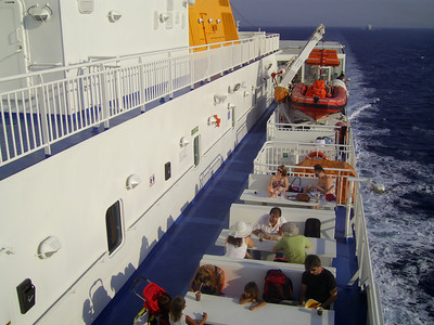 2012 - On board BLUE STAR NAXOS : walkways and deck places.