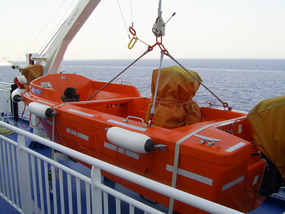 2012 - On board BLUE STAR NAXOS : fast rescue boat 1.