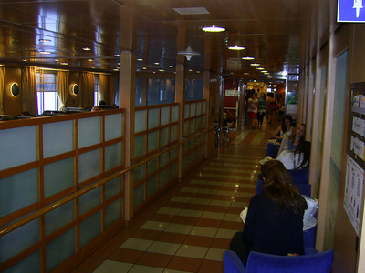 2012 - On board BLUE STAR NAXOS : passengers' common area.