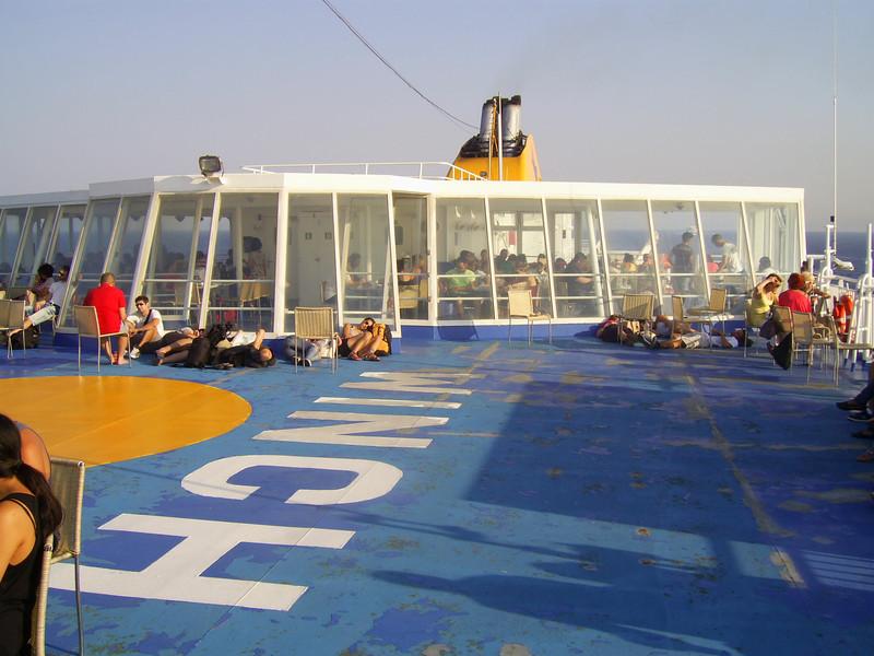 2012 - On board BLUE STAR NAXOS : solarium.