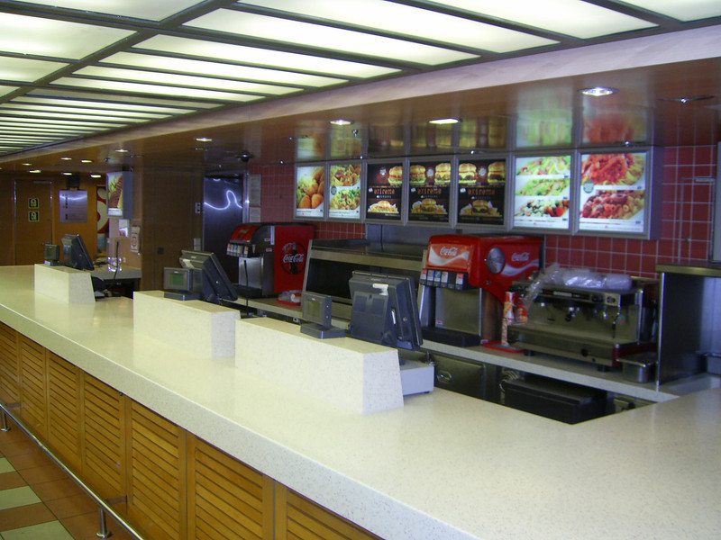 2012 - On board BLUE STAR NAXOS : Goody's fast food.